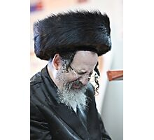 Praying in the Ohel of Rabbi Elimelech. Harcikn Dank ! A dank ojch zejer!   Featured in  Hat Heads. Photographic Print