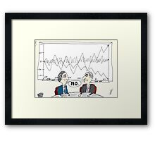 Binary Options News Cartoon Chart Forecast No Framed Print