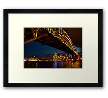 Lights on,  Sydney !! Framed Print