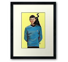 Spock and his cat. Framed Print