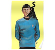 Spock and his cat. Poster
