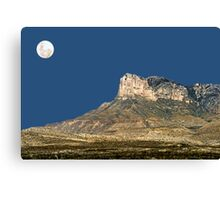 Guadalupe Peak And The Moon Canvas Print