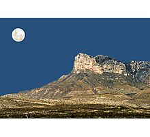 Guadalupe Peak And The Moon Photographic Print