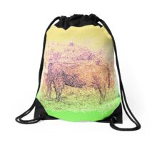 Moo Drawstring Bag