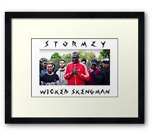 Stormzy // Wicked Skengman Framed Print