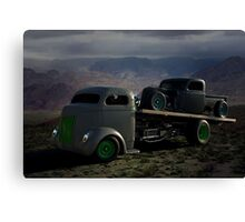 1940 Ford COE Roll Back Tow Truck Canvas Print