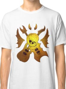 Evil Emo Skull Guitarist ( GOLD version ) Classic T-Shirt