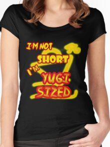 I'm not short, I'm Yugi Sized! Women's Fitted Scoop T-Shirt