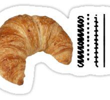 Un Croissant, s'il vous plaît. Sticker
