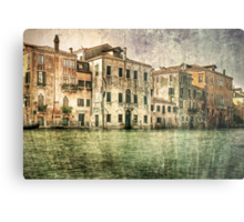 Vintage architecture on Grand canal, venice. Metal Print