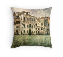 Vintage architecture on Grand canal, venice. Throw Pillow