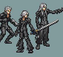 Kadaj, Loz, & Yazoo (Remnants) boss sprites - FFRK - Final Fantasy VII (FF7) Advent Children by Deezer509