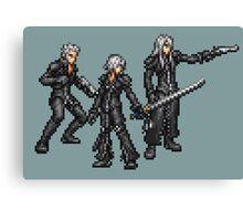 Kadaj, Loz, & Yazoo (Remnants) boss sprites - FFRK - Final Fantasy VII (FF7) Advent Children Canvas Print