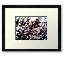 horror icons Framed Print