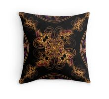 Gold Jewels Throw Pillow