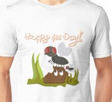 Flies on smiling, smelly poo funny cartoon Unisex T-Shirt