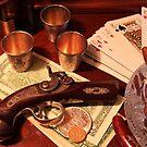 Vintage Gambling Set Up  by Vitaliy Gonikman