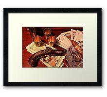 Vintage Gambling Set Up  Framed Print