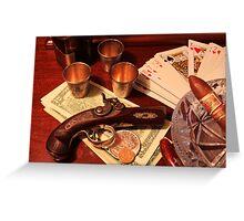Vintage Gambling Set Up  Greeting Card