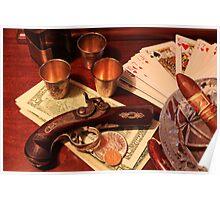 Vintage Gambling Set Up  Poster