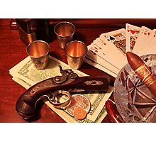 Vintage Gambling Set Up  Photographic Print