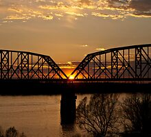 Sunset on the Ohio River by barnsis