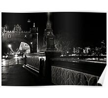 Tower Bridge by night Poster