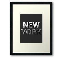 New York City (Black & White) Framed Print