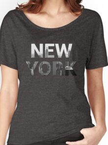 New York City (Black & White) Women's Relaxed Fit T-Shirt