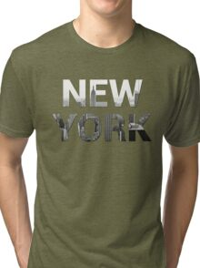 New York City (Black & White) Tri-blend T-Shirt