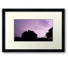 Lightning Art 30 Framed Print