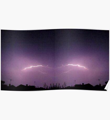 Lightning Art 32 Poster