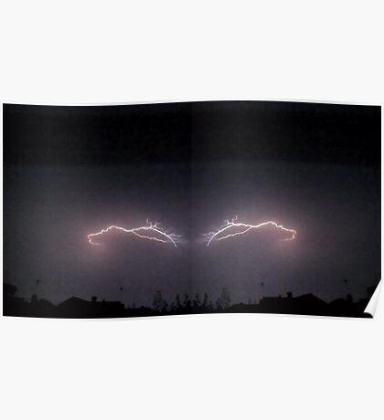 Lightning Art 34 Poster