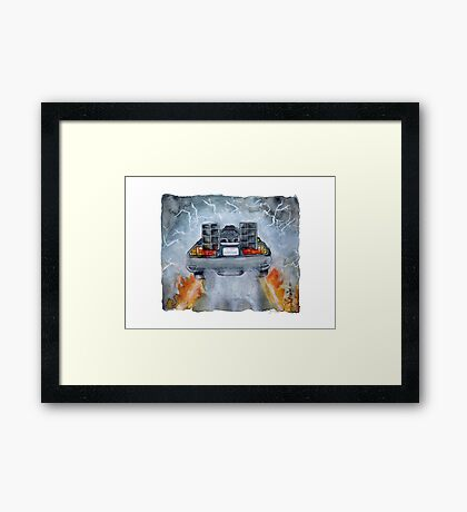 Back To The Future - OUTATIME Framed Print