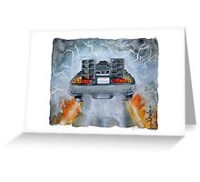 Back To The Future - OUTATIME Greeting Card