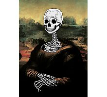 """La Gioconda""- Digital skeleton version Photographic Print"