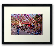 Craft Market Flag Canopy Framed Print