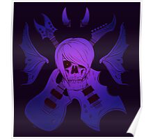 Evil Emo Skull Guitarist ( MYSTICAL version ) Poster