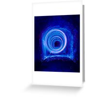 Blue spinning wool Greeting Card