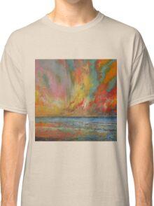 Hidden Heart Lava Sky Classic T-Shirt