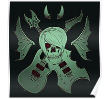 Evil Emo Skull Guitarist (  UNDEAD version ) Poster