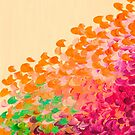 CREATION IN COLOR - AUTUMN INFUSION Colorful Abstract Acrylic Painting Fall Splash Ombre Ocean Waves Fine Art by EbiEmporium