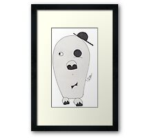 monocle pig Framed Print