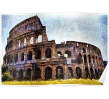 The Colosseum, Rome, Italy  Poster