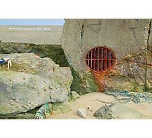 Remains of a World War II Bunker on the Atlantic Coast Photographic Print