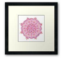 Watercolour Mandala Pink Framed Print
