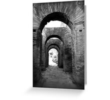 Arches Palatine Hill - Rome, Italy Greeting Card