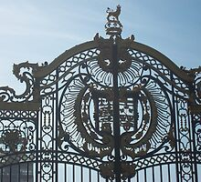 Royal Gates At Green Park Near Buckingham Palace by Sarah Louise English