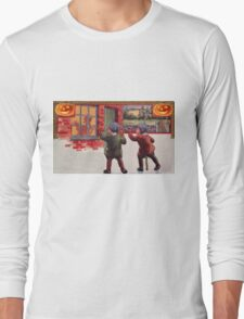Young Killers  (Vintage Halloween Card) Long Sleeve T-Shirt