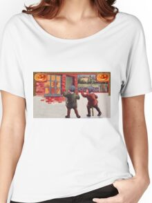 Young Killers  (Vintage Halloween Card) Women's Relaxed Fit T-Shirt